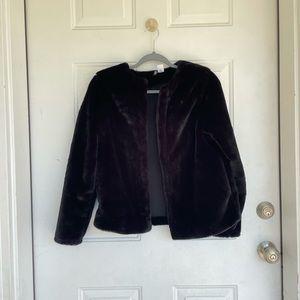 Divided by H&M Black Faux Fur Coat
